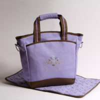 lavender diaper bag
